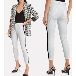 NWT L'agence Margot Velvet Stripe Skinny Jeans